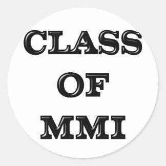 Class of 2001 classic round sticker
