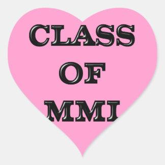 Class of 2001 heart sticker