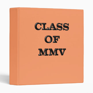 Class of 2005 3 ring binder