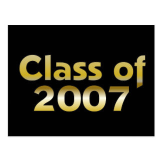 Class of 2007 Black & Gold Postcard