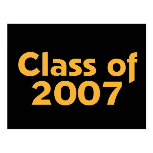Class of 2007 Black & Orange Post Cards