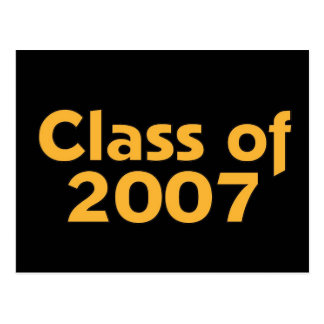 Class of 2007 Black & Orange Postcard