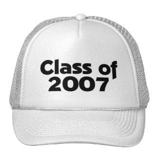 Class of 2007 Black & White Trucker Hat