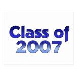 Class of 2007 Blue Postcard