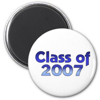 Class of 2007 Blue & White 2 Inch Round Magnet