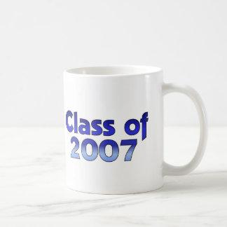 Class of 2007 Blue & White Classic White Coffee Mug