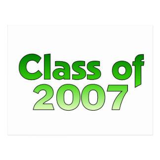 Class of 2007 Green Postcard