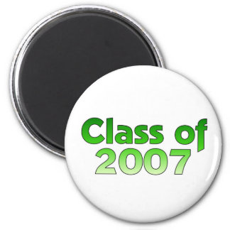 Class of 2007 Green & White 2 Inch Round Magnet