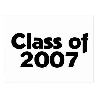 Class of 2007 postcard