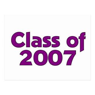 Class of 2007 Purple Postcard
