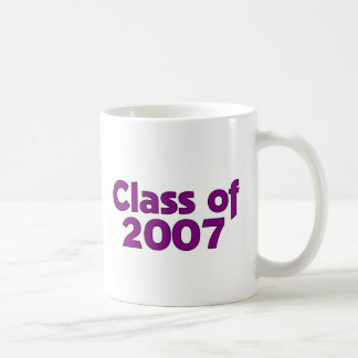 Class of 2007 Purple & White Coffee Mug