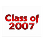 Class of 2007 Red Post Card