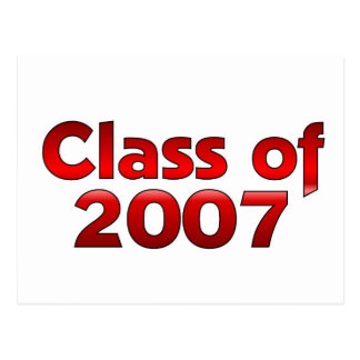 Class of 2007 Red Postcard