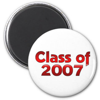 Class of 2007 Red & White 2 Inch Round Magnet
