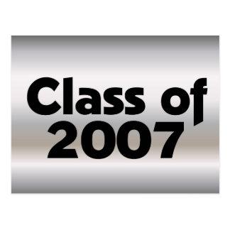 Class of 2007 Silver & Black Postcard