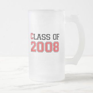 Class of 2008 16 oz frosted glass beer mug