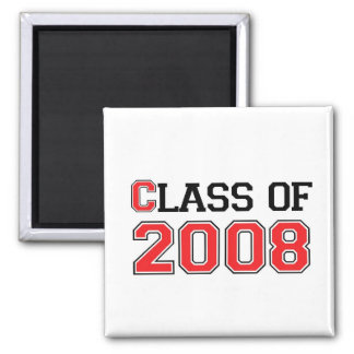Class of 2008 2 inch square magnet