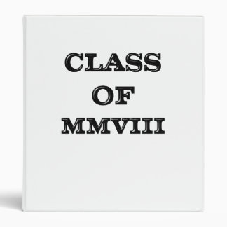 Class of 2008 3 ring binder