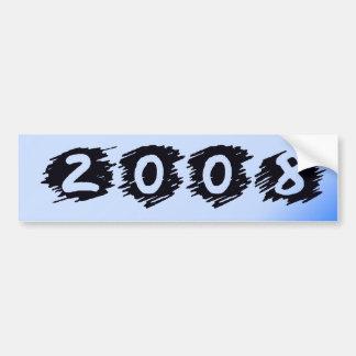 Class Of 2008 Blue Tones Bumper Sticker
