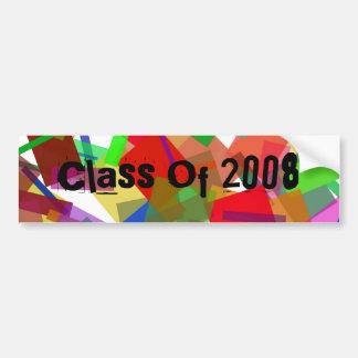 Class Of 2008 Confetti Bumper Sticker