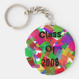 Class Of 2008 Confetti Keychain