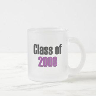 Class of 2008 Purple Frosted Glass Coffee Mug