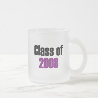 Class of 2008 Purple 10 Oz Frosted Glass Coffee Mug