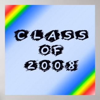 Class Of 2008 Rainbow Corners Poster
