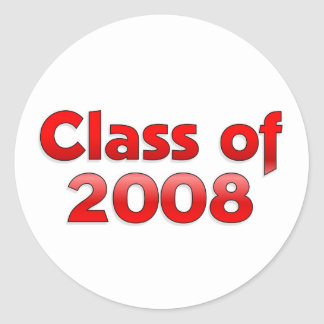 Class of 2008 - Red Sticker