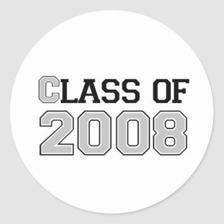 Class of 2008 Silver Classic Round Sticker