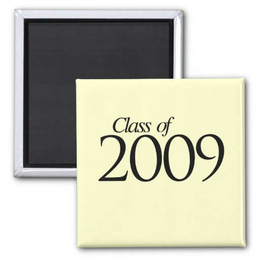 Class of 2009 2 inch square magnet