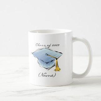 Class of 2009 Blue Graduation Cap Custom Mug