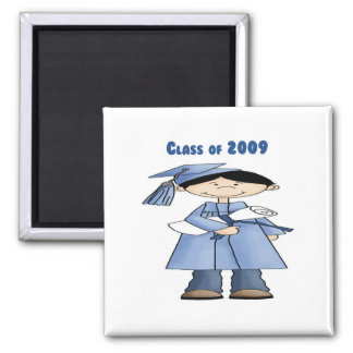 Class of 2009 boy 2 inch square magnet