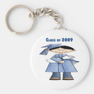 Class of 2009 boy basic round button keychain