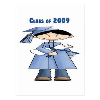 Class of 2009 boy postcard