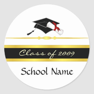 Class of 2009 classic round sticker
