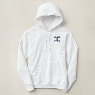 Class of 2009 embroidered hoodie
