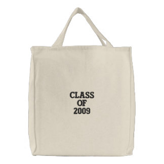Class Of 2009 Embroidered Tote