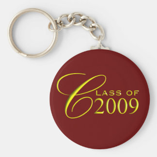 Class of 2009 Garnet and Gold Graduation Key Ring Keychain