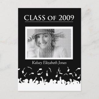Class of 2009 Graduation Invitation Postcard postcard