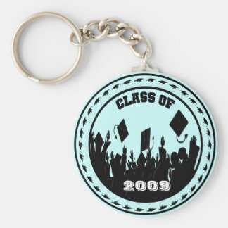 Class of 2009 Keychain You Choose BkGrd/Year/color