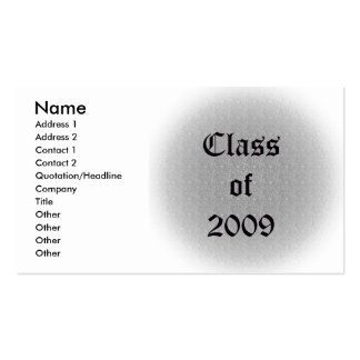 Class of 2009 Old English Business Card