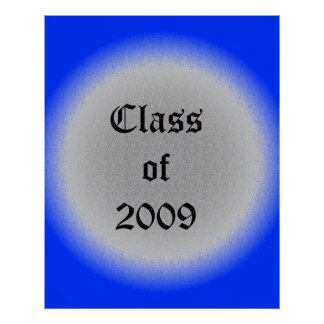 Class of 2009 Old English Poster