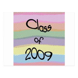 Class of 2009 Pastel Twist Horizontal Postcard
