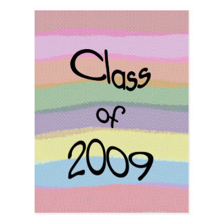 Class of 2009 Pastel Twist Vertical Postcard