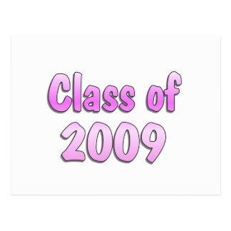Class of 2009 Pink Postcard