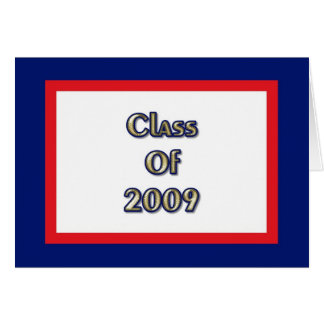 Class of 2009 - Red White Blue Card