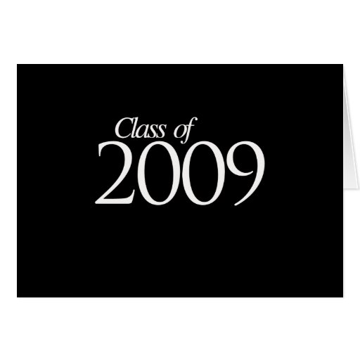 Class of 2009 white greeting cards