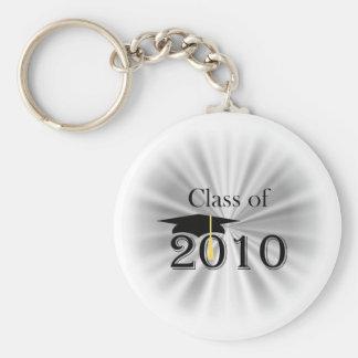 Class of 2010 basic round button keychain