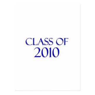 Class of 2010 - Blue & White Postcard